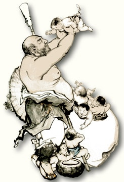 man with babies